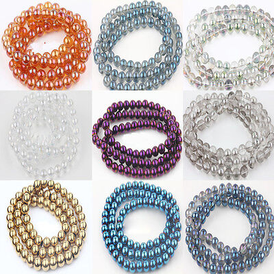 10/15/25/50Pcs Round Czech Crystal Glass Loose Spacer Beads 6/8/10/12mm 13 Color
