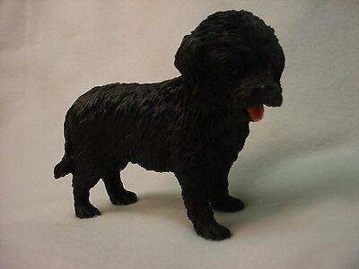 COCKAPOO Dog Figurine HAND PAINTED COLLECTIBLE Resin Statue BLACK  Puppy NEW