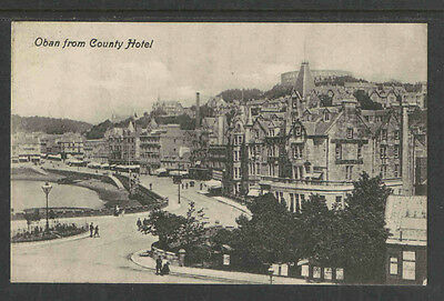 1910s OBAN FROM COUNTY HOTEL ENGLAND POSTCARD  VALENTINES SERIES