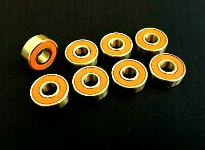 608 Rs Abec-11 Gold Xtreme High Performance Bearings Skateboard Scooter Roller*