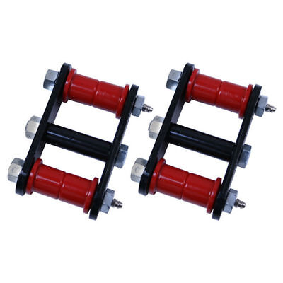 Jeep Cj 55-75 Front Or Rear Shackles W/ Red Bushings  X 18265.04