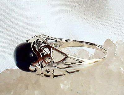 925 Sterling Silver Natural Purple Amethyst Crystal Ring~Pagan~Wicca~Jewellery