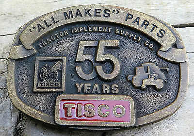 Tisco Tractor Implement Supply Agriculture Farm Farming Vintage Belt Buckle