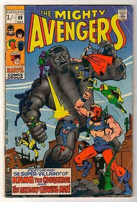 MARVEL Comics AVENGERS  #69  1969  VG- Kang uncanny growing man