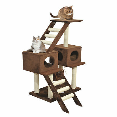 Cat Tree Scratching Post Climbing Activity Playground Center w/ Ladder Hammock