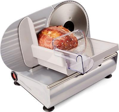 New Andrew James Electric Food & Meat Slicer 19cm Blade + 2 Extra Blades