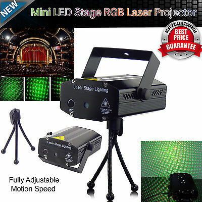 LED Stage Lighting R&G Laser Projector Music Activated Disco Party Club DJ Light