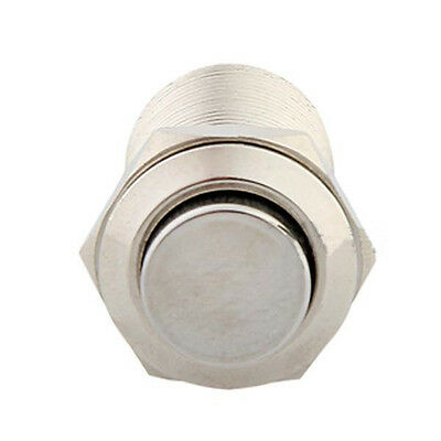 Silver Housing 12mm 2A Self-locking On/Off Push Button Metal Switch for Car Auto