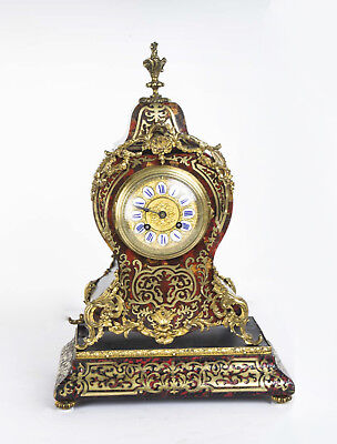 Antique French Boulle Mantel Clock On Stand c.1870