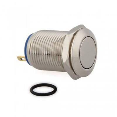 Micro Silver Case 12mm 12V Momentary On/Off Push Buttons Metal Switch for Car