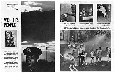 Weegee's People - Magazine Review of Weegee's new 1946 book: Original w/ Photos