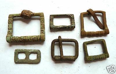 Set of 6 Ancient bronze  bukles. (ao7)