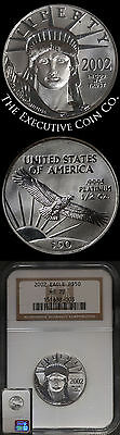 2002 Platinum American Eagle $50 NGC MS70 1/2 Ounce Perfect Coin Perfect Holder