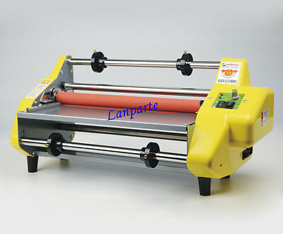 """13"""" Four Rollers Hot and Cold  Roll Laminating Machine Office Laminator 220V"""