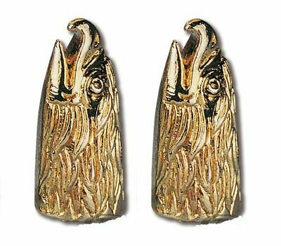 Gold Eagle Head Tyre Valve Dust Cap Covers (Pair) Harley Goldwing Motorcycle Car