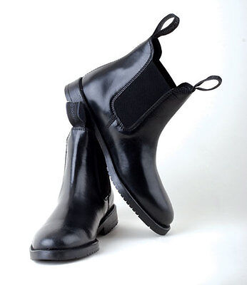 Rhinegold Leather Jodhpur Boots Comfey Classic Horse Riding  Black or Brown