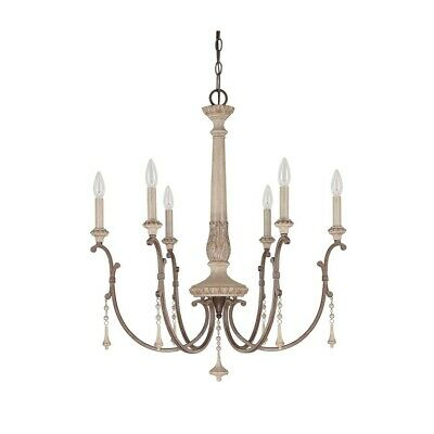 Capital Lighting Chateau 6 Lt Chandelier, French Oak - 4096FO