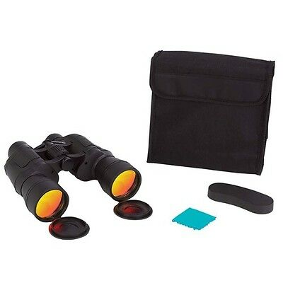 Ruby Red Coated Lenses Binoculars 10x50 w/ Case Neck Strap Hunting Sight Seeing