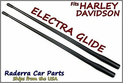 "TWO 13"" SHORT Custom Flexible Rubber Antenna Masts - 1989-2018 Harley Davidson"
