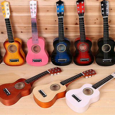 21inch children's wooden Acoustic Guitar gift children 6 String Kids music toys
