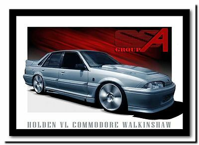 QUALITY CANVAS ART PRINT Holden Walkinshaw `walky' Vl commodore poster 12x8""