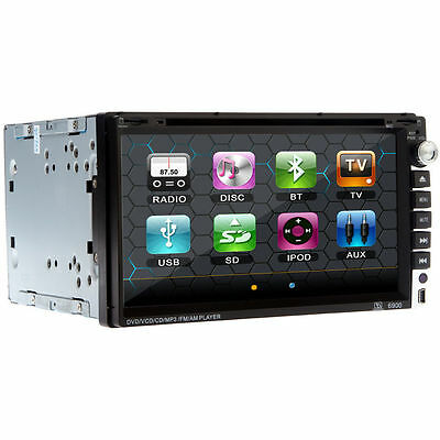 Double 2Din Touch Screen InDash Car DVD CD Player BT TV iPod Radio Stereo US