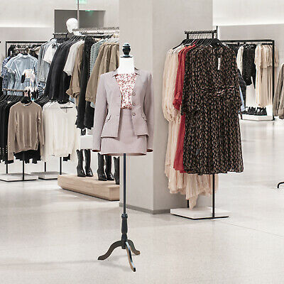 HOMCOM Dress Form Female Mannequin Torso Dressmaker Stand Display