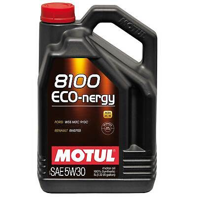 Motul 5 Litres Of 8100 Eco-Nergy 5W30 Fully Synthetic Engine Oil