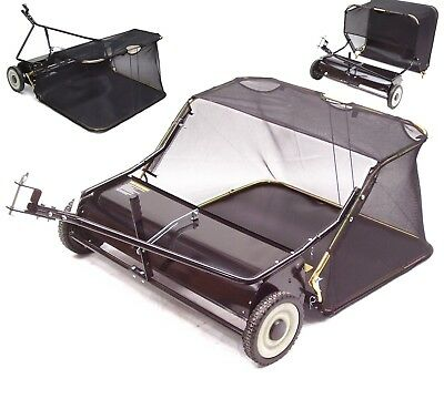 """TOW BEHIND 38"""" LEAF COLLECTOR LAWN SWEEPER 96 cm LEAF COLLECTING SWEEPER ATV"""