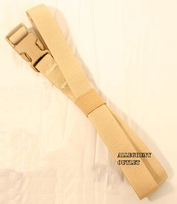 """LOT of 8 - Molle QUICK RELEASE Cargo LASHING STRAPS 1"""" x 68"""" Tan ADJUSTABLE"""