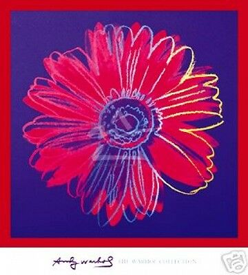 POP ART PRINT - Daisy c 1982 (Blue & Red) by ANDY WARHOL 40x36 Oversize Poster
