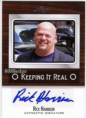 2012 Leaf Pop Century Keeping It Real Auto: Rick Harrison - Autograph Pawn Stars