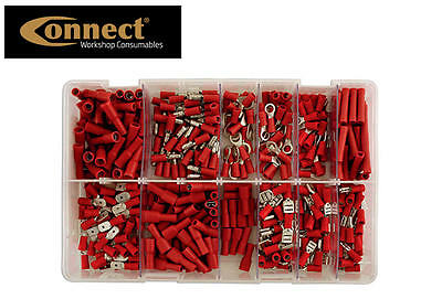CONNECT 260 RED Assorted Insulated Electrical Wire Terminal Crimp Connector Set
