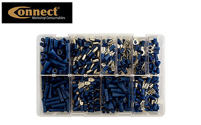 CONNECT 280 BLUE Assorted Insulated Electrical Wire Terminal Crimp Connector Set