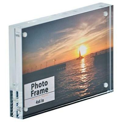 "Clear Acrylic Magnet Photo Frame Block (4x6"") by Nicom New"