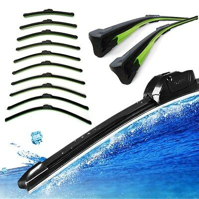 Black Soft Car Bracketless Frameless Rubber Window Windshield Wiper Blade Brush