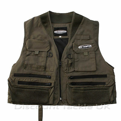 Ron Thompson Ontario Waistcoat Fly Fishing Vest  S M L Xl Or Xxl Choose Size