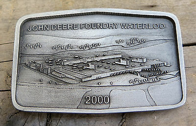 John Deere Foundry Waterloo Iowa Agriculture Belt Buckle