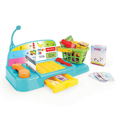 Fisher Price Kids Toy Cash Register Shopping Checkout Till Money Food Role Play