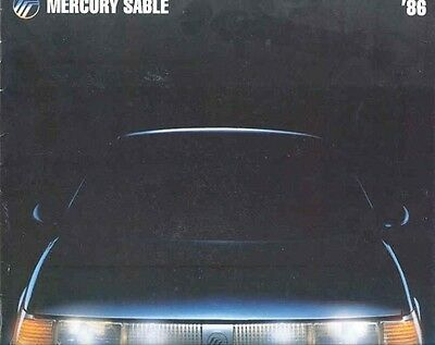 1986 Mercury Sable Brochure Canada my4727