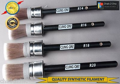 #CO4r - SET OF 4 CLING ON ! best quality ALL WATERBASED chalk bsd paint BRUSHES
