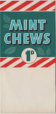 Mint Chews 1d Australia advertising counter top promotional stand up sign