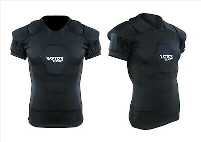 New Raptor Rugby Body Armour Shoulder Sternum Pads. MB to XL Minis/Juniors/Mens