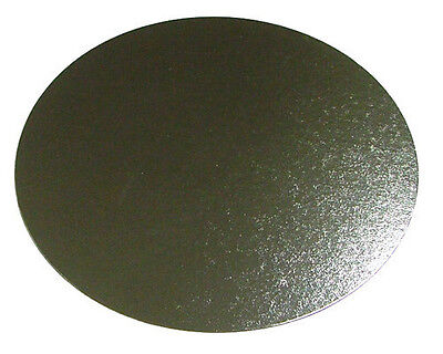 """25 x 14"""" Inch Round Silver Cake Board 3mm DOUBLE THICK"""