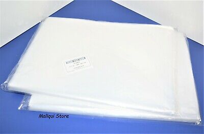200 CLEAR 14 x 20 POLY BAGS PLASTIC 1 MIL FLAT OPEN TOP