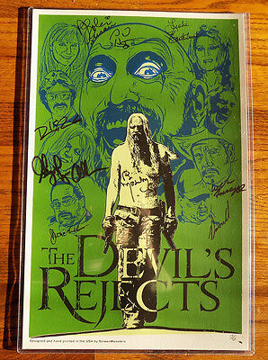 "Mondo Glow in the Dark  ""Devils Rejects"" Days of the Dead Cast Signed 11 x 17"