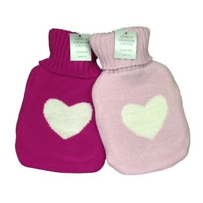 Gisela Graham Hot Water Bottle - Light Pink and Bright Pink available