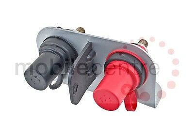 Jump start booster terminals pre mounted on bracket Black & Red 350A with covers