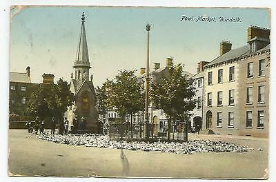 irish postcard ireland louth dundalk fowl market