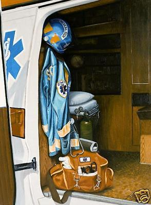 Emergency Medical Services - Print   E.M.S. signed & numbered- Personalized FREE